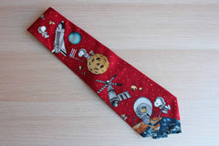 Peanuts (United Features Syndicate) 100% Silk Snoopy in Space Space Necktie