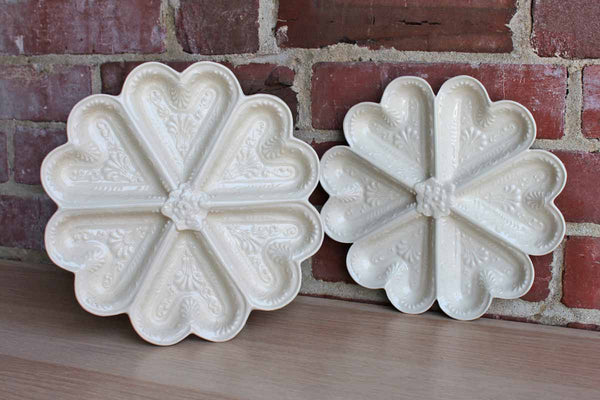 Ceramic Heart-Shaped Candy and Nut Dishes
