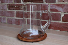 Dolphin (Thailand) Glass Pitcher with Teak Trivet