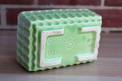 California Pottery (California, USA) Celadon Green Rectangular Planter with Stepped Sides