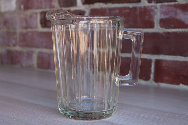 Clear Glass Small Beer Pitcher