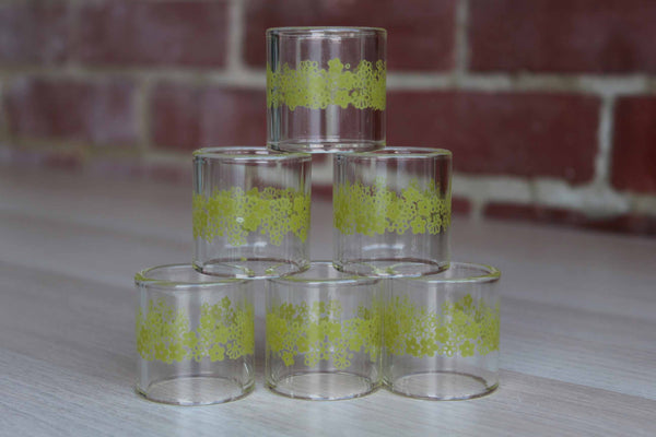 Corning Inc. (New York, USA) Pyrex Spring Blossom Glass Napkin Rings, 6 Pieces