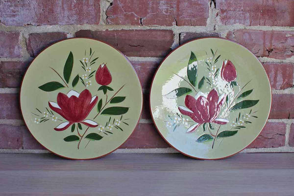 Stangl Pottery (New Jersey, USA) Ceramic Magnolia Dinner Plates, A Pair
