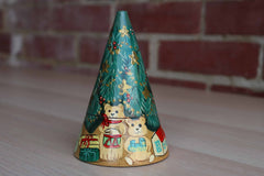 Nested Christmas Tree Decorated with Hand-Painted Gifts and Garlands