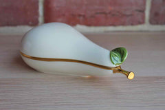 Lenox (USA) Ivory, Green and Gold Pear-Shaped Porcelain Keepsake Box