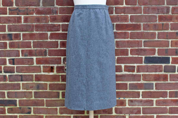 Pendleton Woolen Mills (Oregon, USA) Gray Wool Pencil Skirt, Size 14