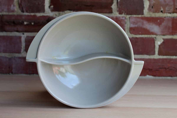 Boonton (New Jersey, USA) Gray Melamine Divided Serving Bowl