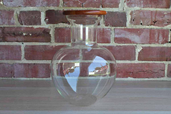 Dansk Internation (Denmark) Clear Glass Pitcher with Wood Lid