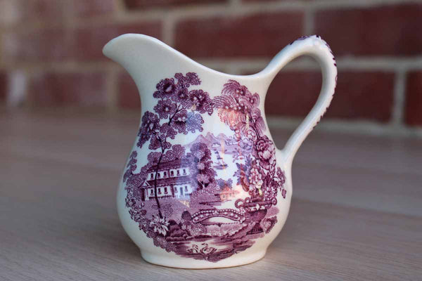 "Royal Staffordshire (England) Clarice Cliff Purple ""Tonquin"" Small Pitcher"