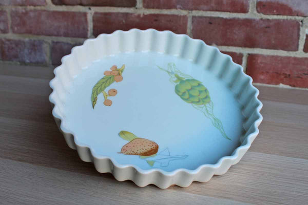 Pillivuyt (France) Modernist Fruit Decorated Overproof Tart Dish
