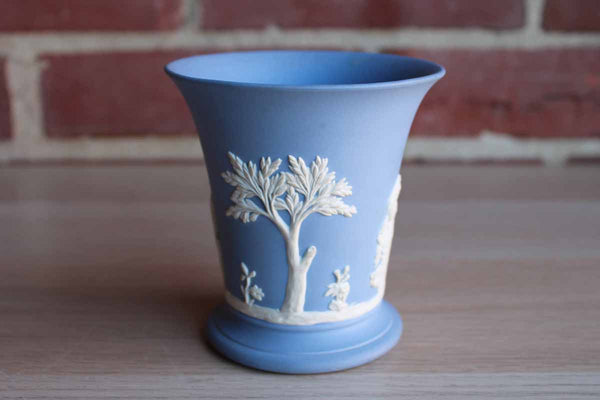 Wedgwood (England) Pale Blue Jasperware Vase with the Sacrifice to Ceres Decoration