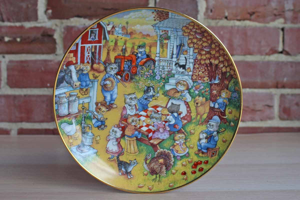 A Purrfect Feast Limited Edition Decorative Plate by Bill Bell