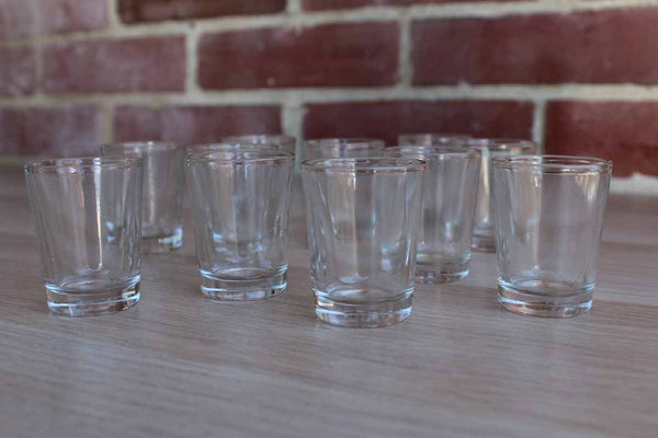 Simple Clear Shot Glasses, 11 Pieces