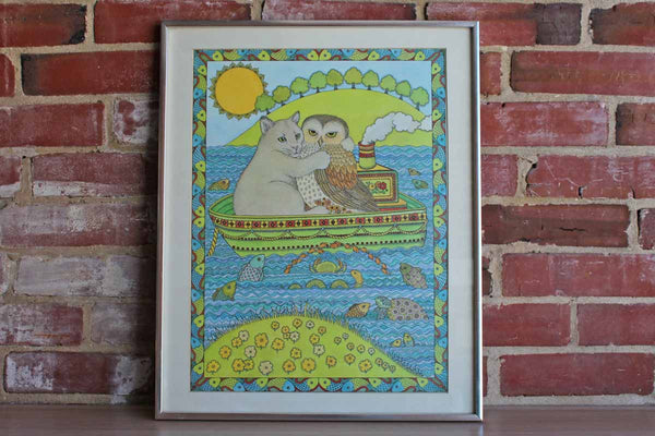 "Framed Giclée Print of ""The Owl and the Pussycat"""