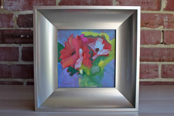 Original Acrylic Painting of Colorful Flowers by Lisa Daria Kennedy