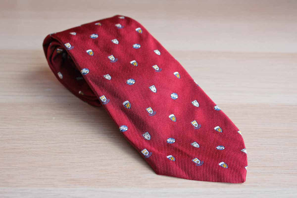 Brooks Brothers Makers (New York, USA) Silk Blend Necktie Decorated with College Shields