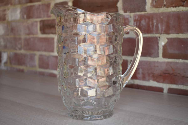 Colony Glass (Connecticut, USA) Whitehall Clear Glass Handled Pitcher