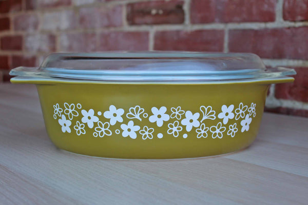 Corning Inc. (New York, USA) Pyrex 2.5 Quart Spring Blossom Green Lidded Casserole