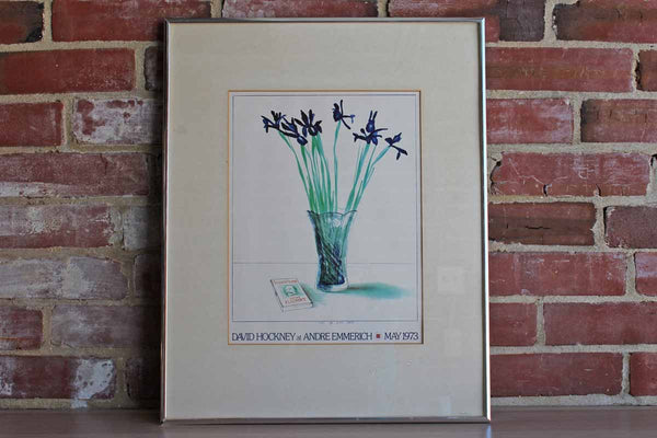 "Offset Lithograph Poster by David Hockney Titled ""Still Life with Book"""