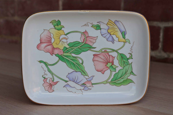Ben Rickert, Inc. (Made in Japan) Small Porcelain Tray with Colorful Flowers