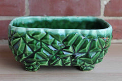 McCoy Pottery (Ohio, USA) Garden Pebble Forest Green Drip Glazed Planter