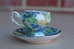 Reutter Porzellan (West Germany) Miniature Floral Teacup and Saucer