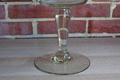 Clear Glass Bowl on Tall Pedestal Base