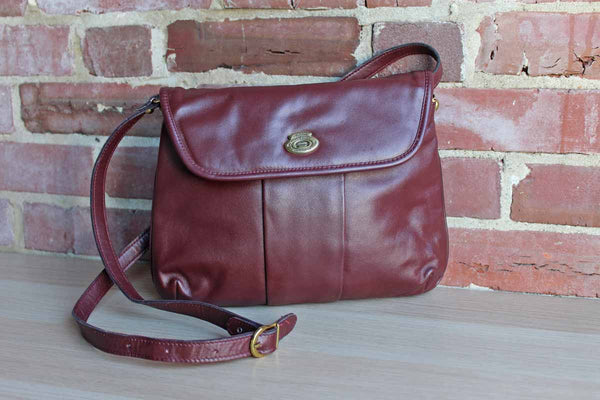 Etienne Aigner (New York, USA) Brownish Red Crossbody Bag with Adjustable Strap