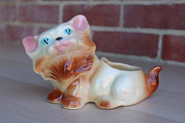 Ceramic Kitten Planter