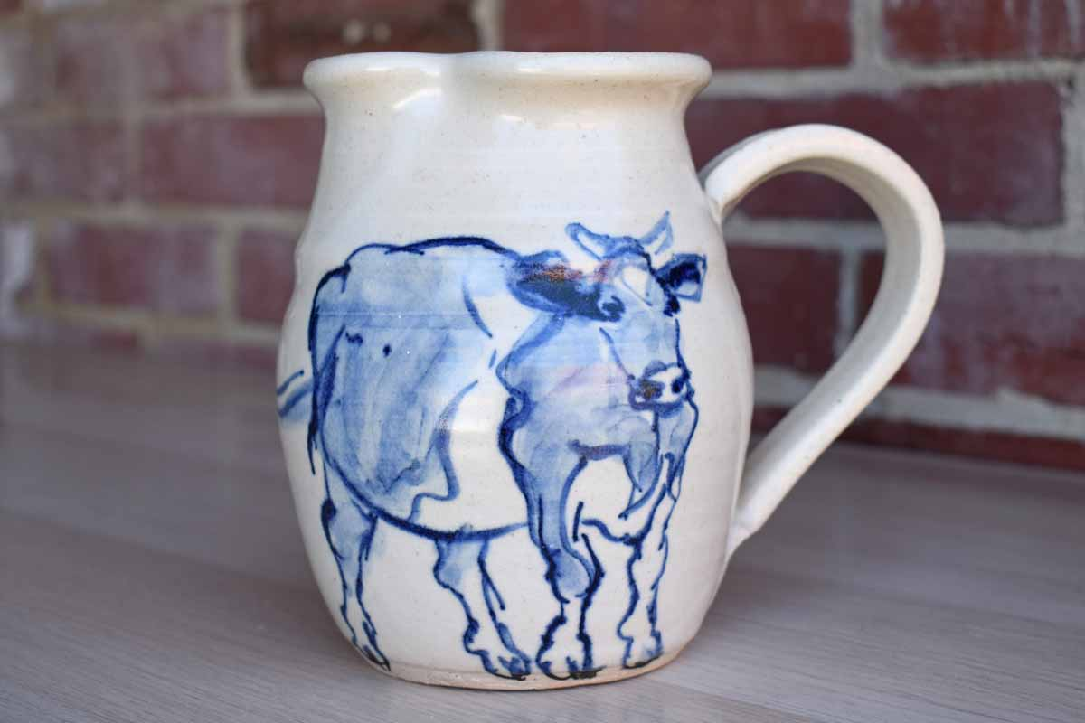 Westwind Pottery (West Virginia, USA) Handmade Ceramic Milk Jug