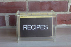 Clear Acrylic Recipe Holder