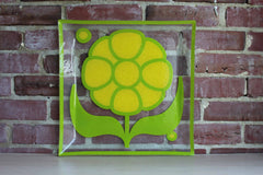 Colony Glass (New York, USA) Yellow Daisy Garden Party Glass Tray