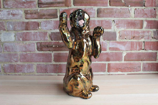Awesome Sitting Wild Cat Statue
