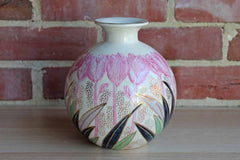 China Trader Flower Vase with Vibrant Floral Designs