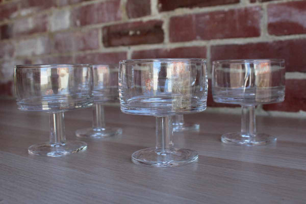 Simple Modern Clear Dessert Glasses, 5 Pieces
