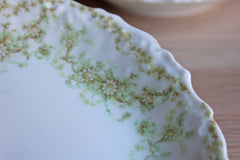 Bawo & Dotter (Limoges, France) Small Bowls with White and Green Flowers, Set of 5
