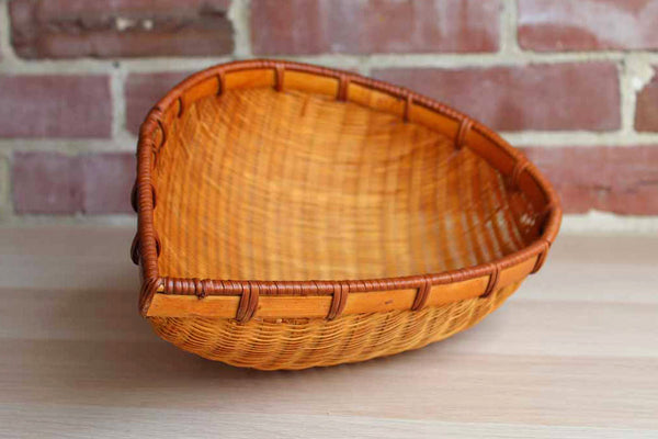 Hand Woven Ovate Shaped Round Bottom Storage Basket