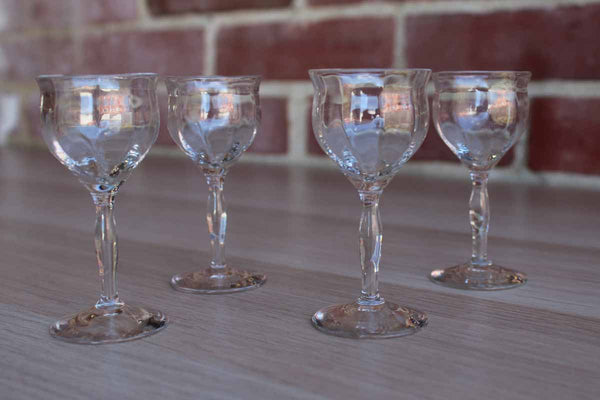 Little Clear Glass Aperitif Glasses, 4 Pieces