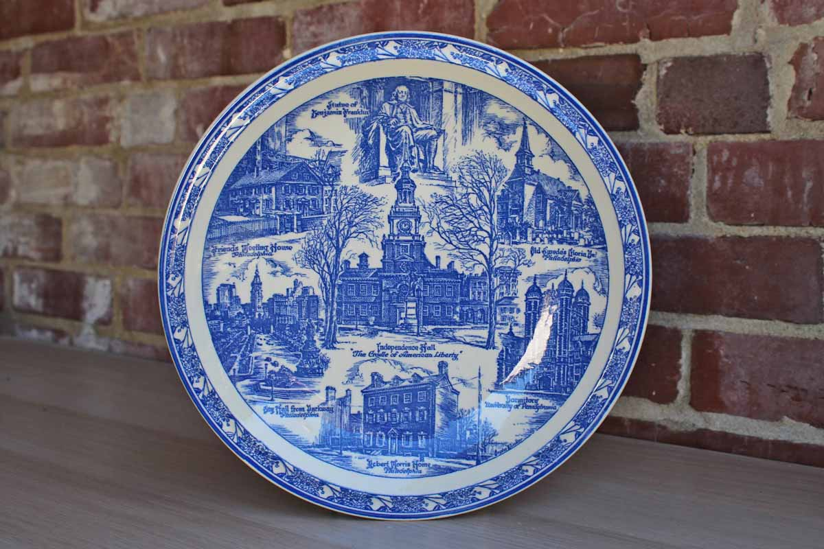 Strawbridge & Clothier (Pennsylvania) Cradle of Liberty Transferware Plate