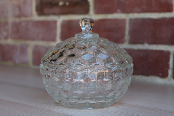 Fostoria Glass Company (West Virginia, USA) American Clear Lidded Candy Dish