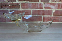 Hazel Atlas Glass Company (West Virginia, USA) Clear Glass Simplicity Chip n' Dip Set