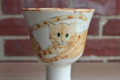 Ceramic Pouncing Cats Vase