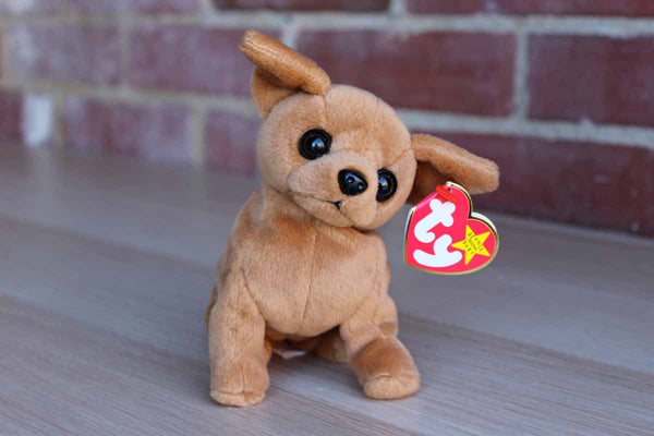 Ty Inc. (Illinois, USA) 1998 Tiny the Brown Chihuahia Beanie Baby