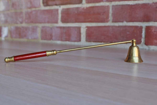 Brass and Wood Candle Snuffer
