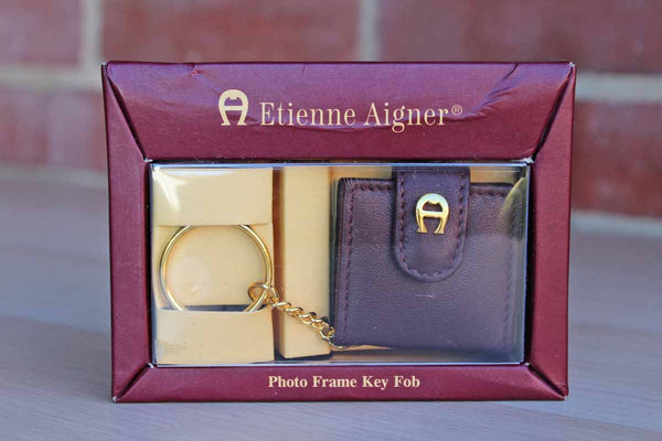Etienne Aigner (New York, USA) Red Leather Photo Frame Key Ring