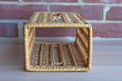 Hand-Weaved Reed Tissue Paper Storage Box