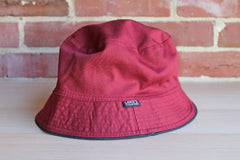 Lord's (Styled in France) Burgundy Cotton Bucket Hat
