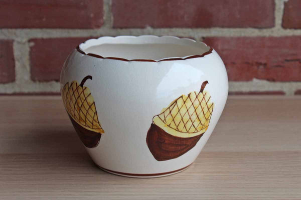 Ceramic Hand-Painted Acorn Bowl
