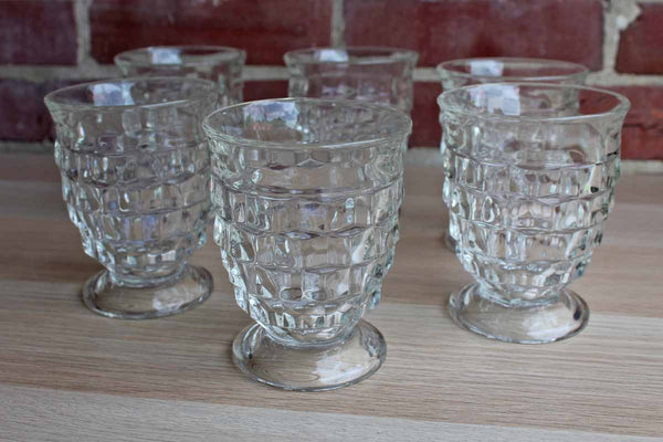 Fostoria Glass Company (West Virginia, USA) American Clear Glass Tumblers, 6 Pieces