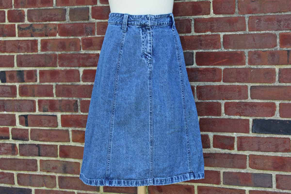 Christopher & Banks Mid-Length A-Line Denim Skirt, Size 6